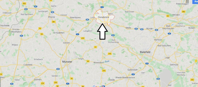 Wo liegt Osnabrück? Wo ist Osnabrück? In welchem Bundesland ist Osnabrück