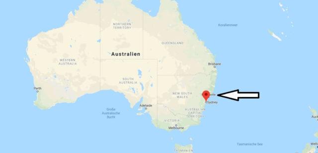 Wo liegt Sydney? Wo ist Sydney? in welchem land liegt Sydney