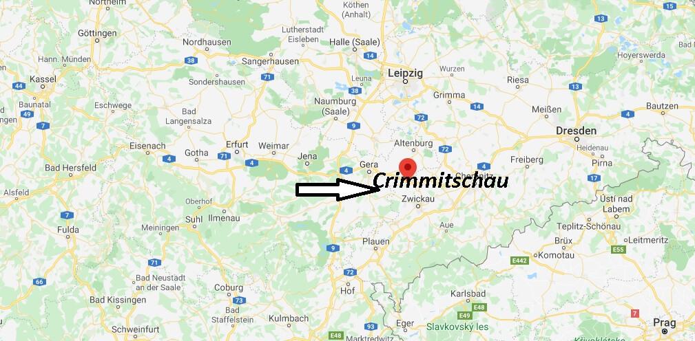 Wo liegt Crimmitschau? Wo ist Crimmitschau