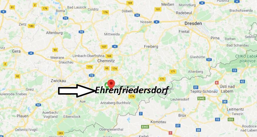 Wo liegt Ehrenfriedersdorf? Wo ist Ehrenfriedersdorf
