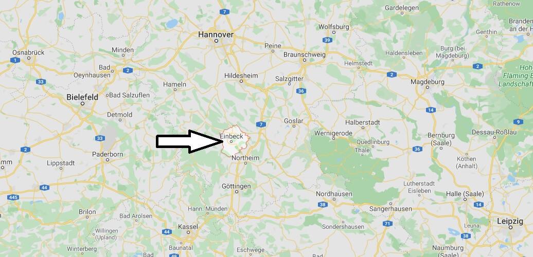 Wo liegt Einbeck (37574)? Wo ist Einbeck