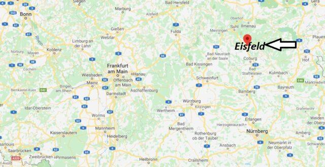 Wo liegt Eisfeld (98673)? Wo ist Eisfeld