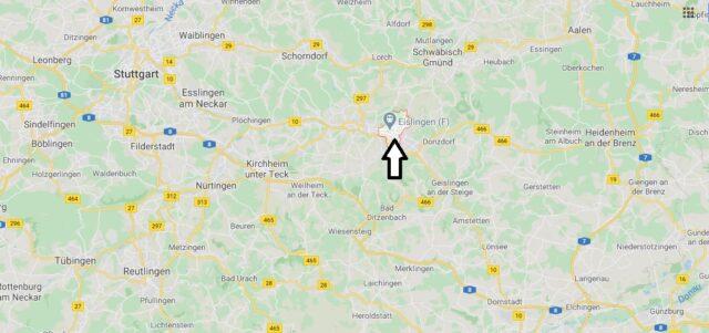 Wo liegt Eislingen/Fils (73054)? Wo ist Eislingen/Fils