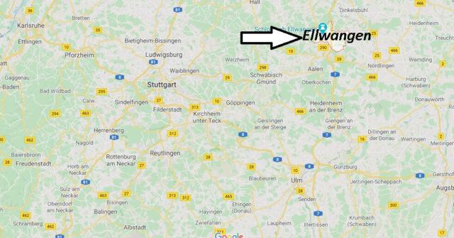 Wo liegt Ellwangen (73479)? Wo ist Ellwangen