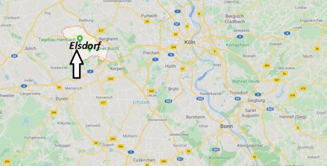 Wo liegt Elsdorf (50189)? Wo ist Elsdorf