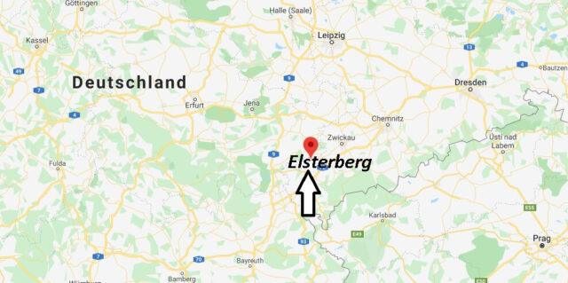Wo liegt Elsterberg? Wo ist Elsterberg