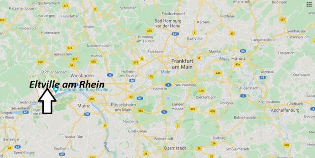 Wo liegt Eltville am Rhein? Wo ist Eltville am Rhein