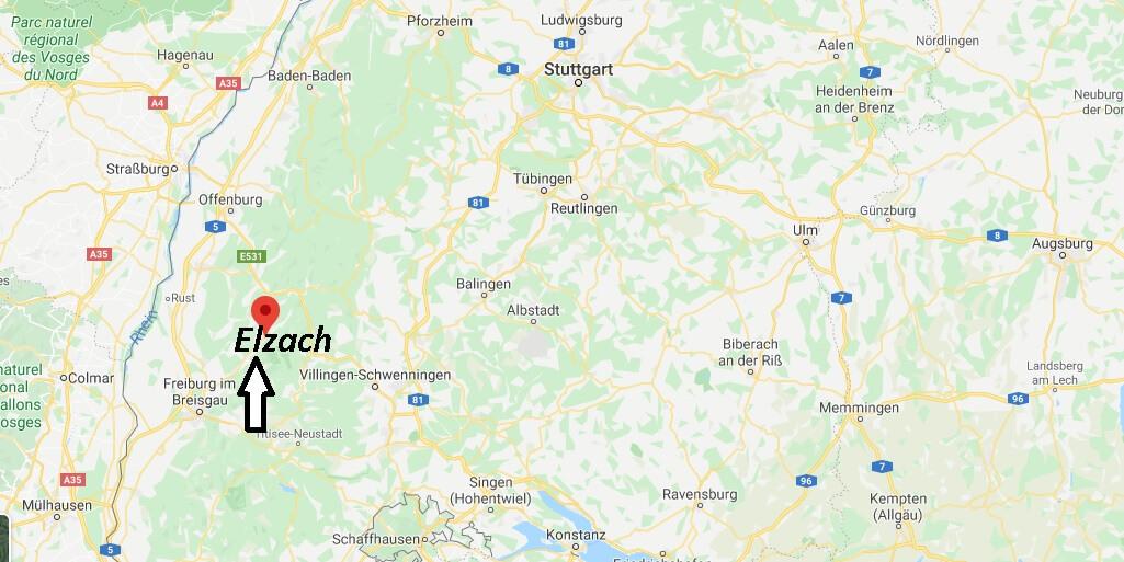 Wo liegt Elzach (79215)? Wo ist Elzach