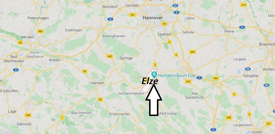 Wo liegt Elze (31008)? Wo ist Elze
