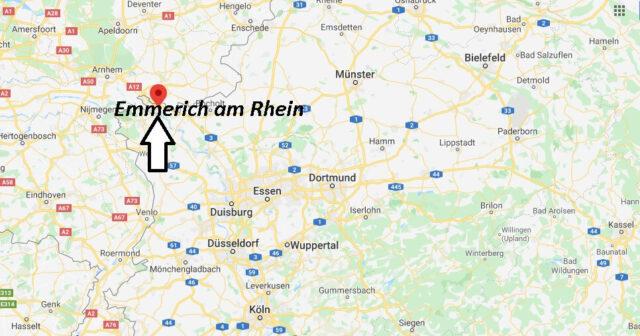 Wo liegt Emmerich am Rhein (46446)? Wo ist Emmerich am Rhein