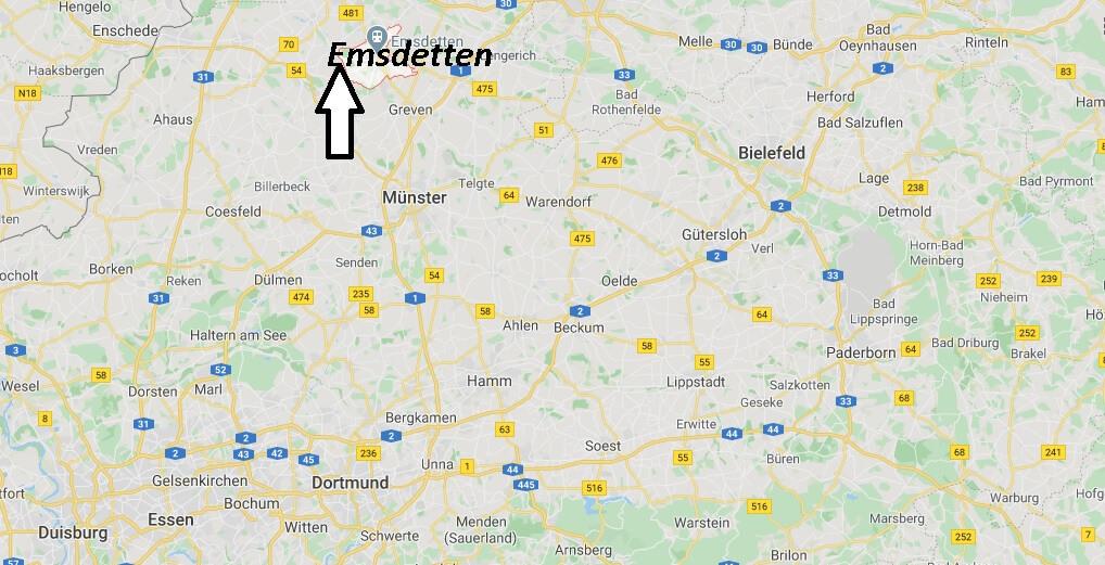 Wo liegt Emsdetten (48282)? Wo ist Emsdetten