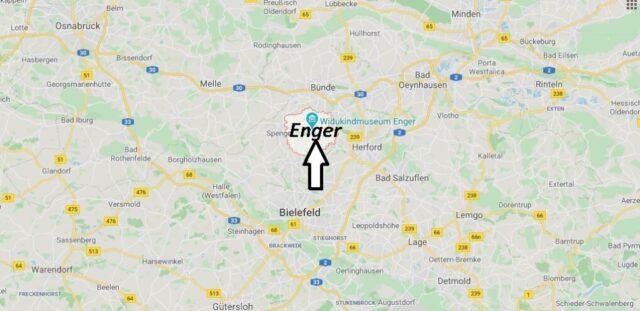 Wo liegt Enger (32130)? Wo ist Enger