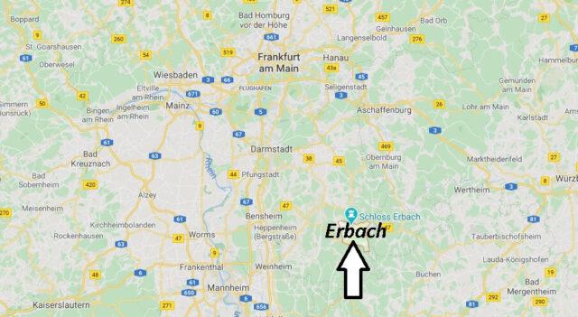 Wo liegt Erbach (89155)? Wo ist Erbach