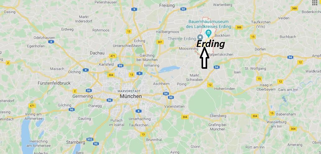 Wo liegt Erding (85435)? Wo ist Erding
