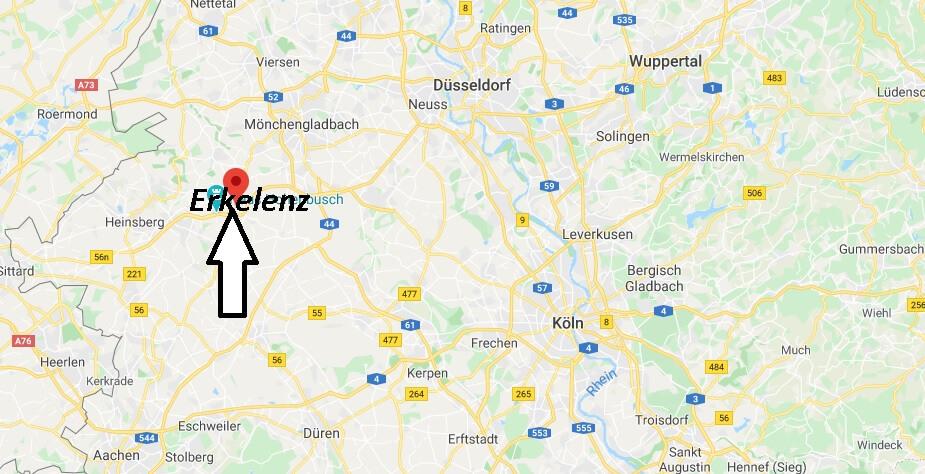 Wo liegt Erkelenz (41812)? Wo ist Erkelenz