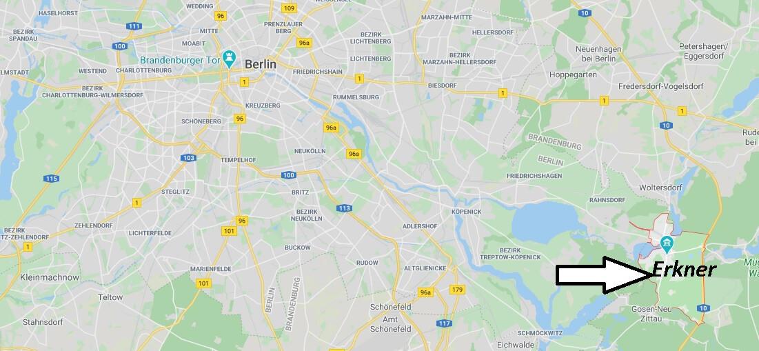 Wo liegt Erkner (15537)? Wo ist Erkner