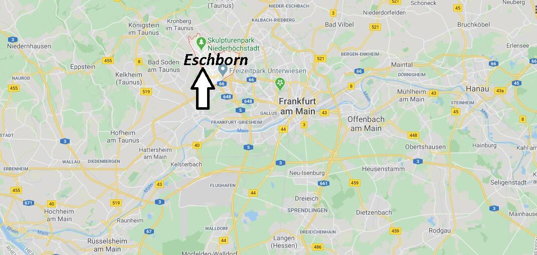 Wo liegt Eschborn (65760)? Wo ist Eschborn