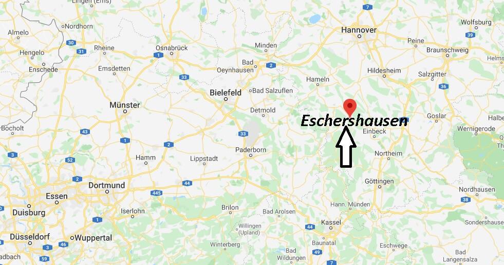 Wo liegt Eschershausen (37632)? Wo ist Eschershausen