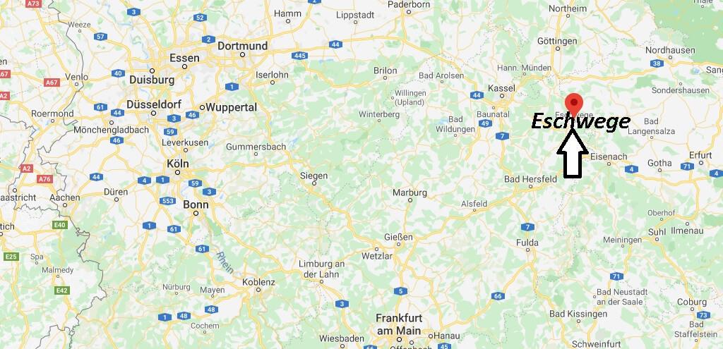 Wo liegt Eschwege (37269)? Wo ist Eschwege