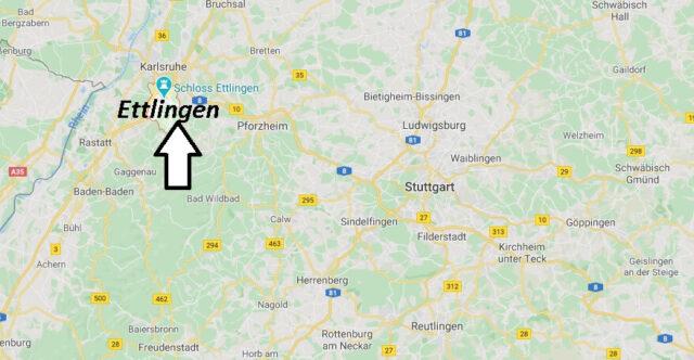 Wo liegt Ettlingen (76275)? Wo ist Ettlingen