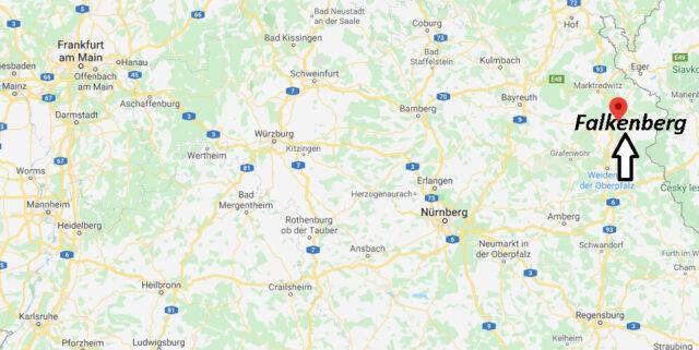 Wo liegt Falkenberg (95685)? Wo ist Falkenberg