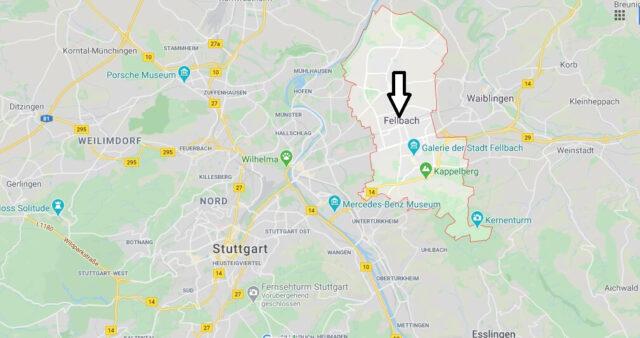 Wo liegt Fellbach (70736)? Wo ist Fellbach