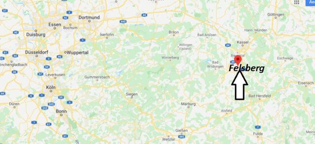 Wo liegt Felsberg (34587)? Wo ist Felsberg