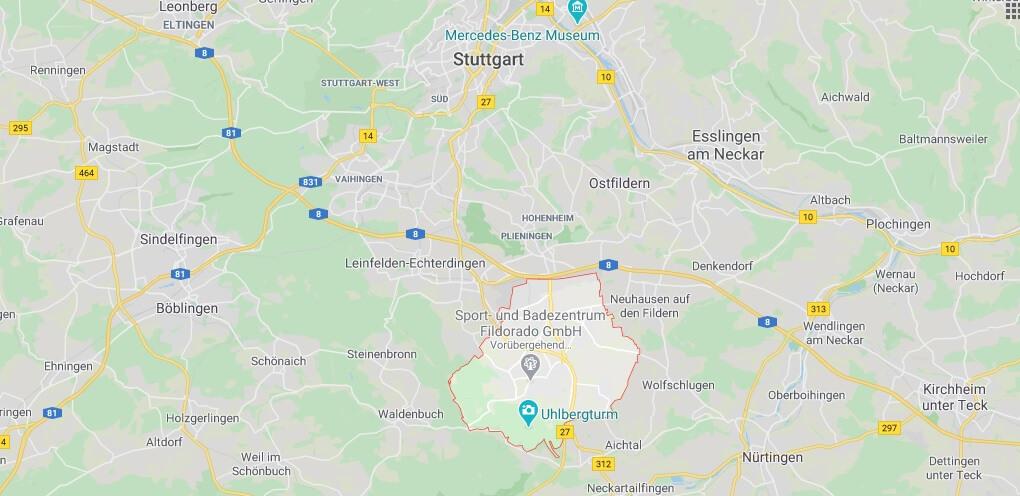Wo liegt Filderstadt (70794)? Wo ist Filderstadt