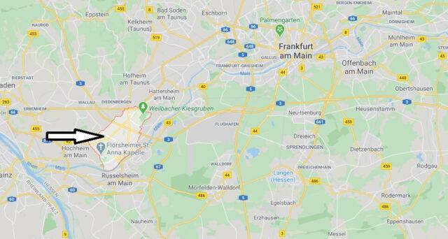 Wo liegt Flörsheim am Main (65439)? Wo ist Flörsheim am Main