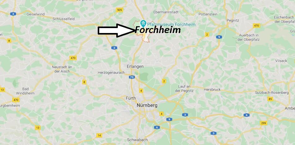 Wo liegt Forchheim (91301)? Wo ist Forchheim