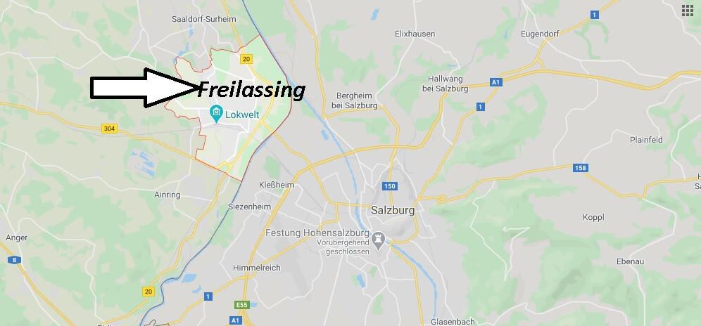 Wo liegt Freilassing (83395)? Wo ist Freilassing