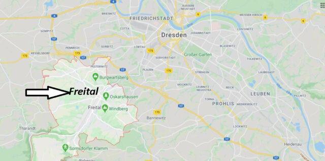 Wo liegt Freital (01705)? Wo ist Freital