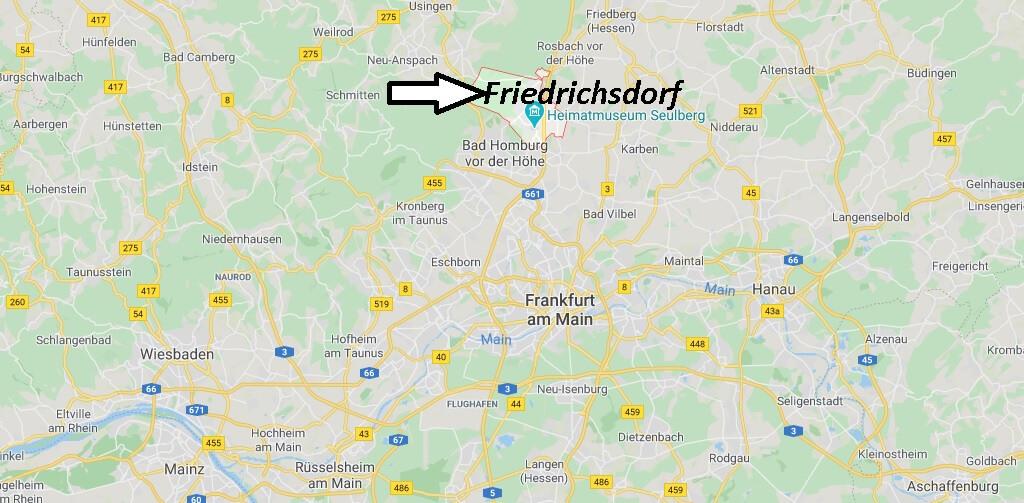 Wo liegt Friedrichsdorf (61381)? Wo ist Friedrichsdorf