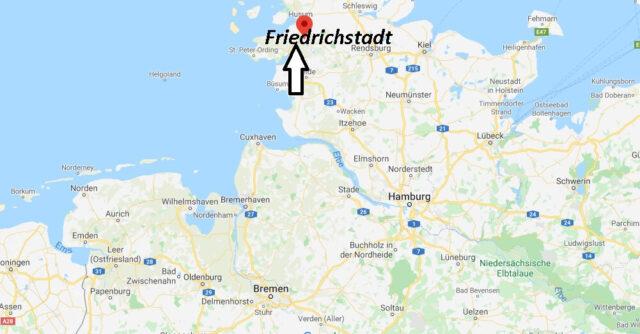 Wo liegt Friedrichstadt (25840)? Wo ist Friedrichstadt