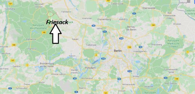Wo liegt Friesack (14662)? Wo ist Friesack