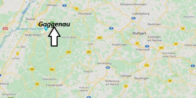 Wo liegt Gaggenau (76571)? Wo ist Gaggenau