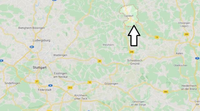 Wo liegt Gaildorf (74405)? Wo ist Gaildorf