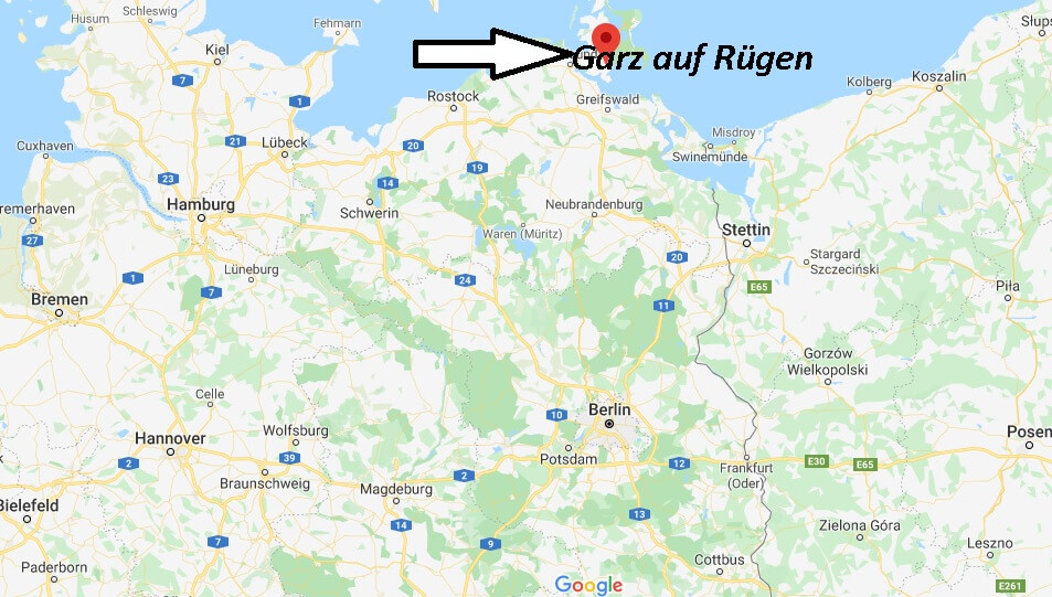 Wo liegt Garz auf Rügen? Wo ist Garz auf Rügen