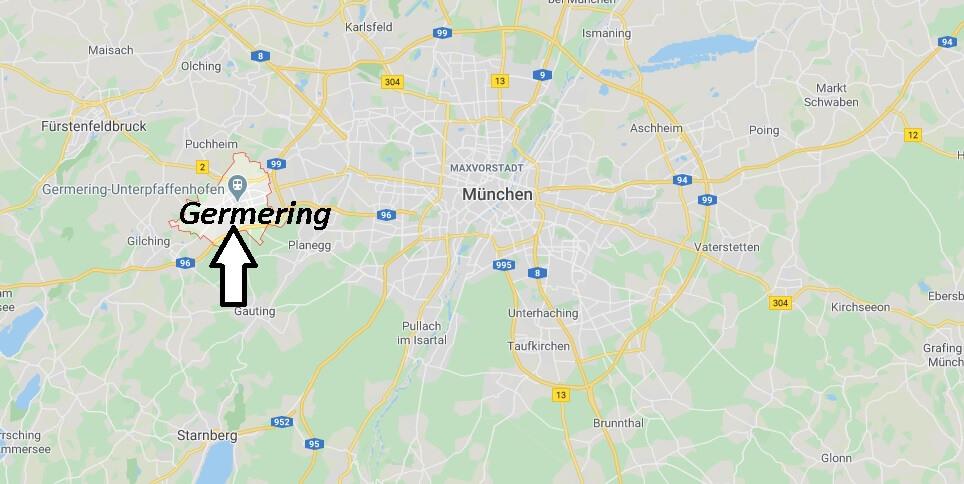 Wo liegt Germering (82110)? Wo ist Germering
