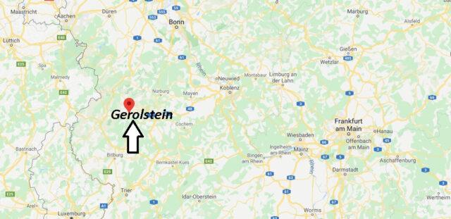 Wo liegt Gerolstein (54568)? Wo ist Gerolstein