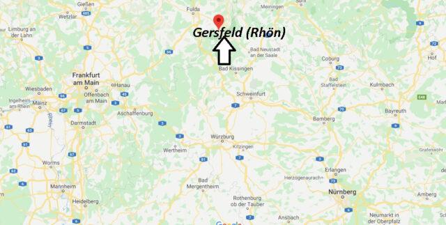 Wo liegt Gersfeld (Rhön) (36129)? Wo ist Gersfeld (Rhön)