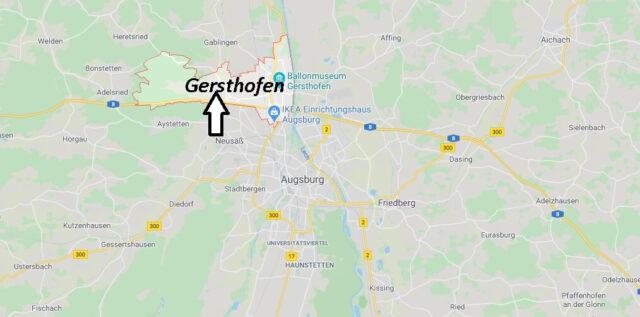 Wo liegt Gersthofen (86368)? Wo ist Gersthofen