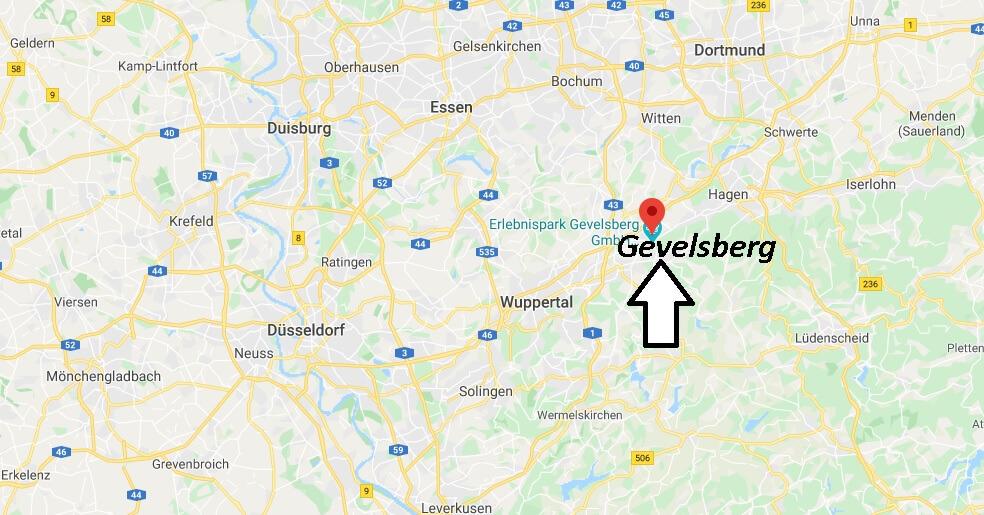 Wo liegt Gevelsberg (58285)? Wo ist Gevelsberg