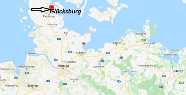 Wo liegt Glücksburg? Wo ist Glücksburg