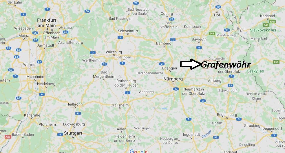 Wo liegt Grafenwöhr (92655)? Wo ist Grafenwöhr
