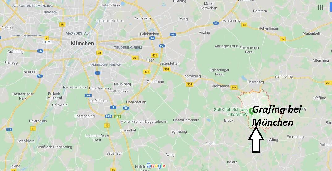 Wo liegt Grafing bei München (85567)? Wo ist Grafing bei München