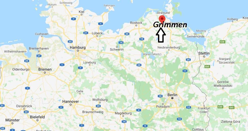 Wo liegt Grimmen (18507)? Wo ist Grimmen