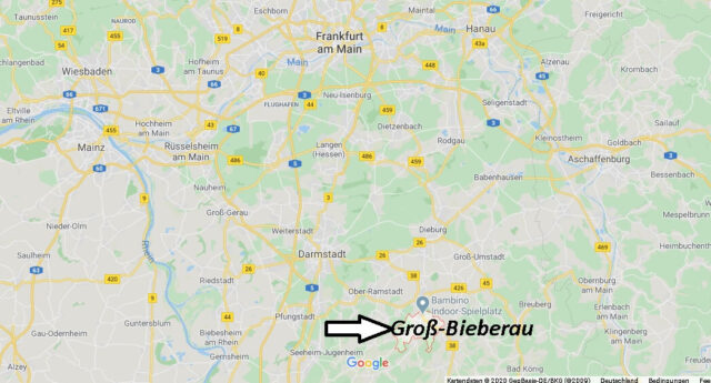 Wo liegt Groß-Bieberau? Wo ist Groß-Bieberau