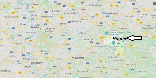 Wo liegt Hagen? Wo ist Hagen