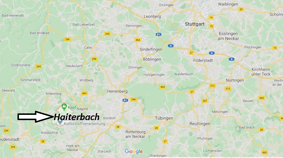 Wo liegt Haiterbach (72221)? Wo ist Haiterbach